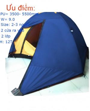 Lều 2 người 2 lớp Pass XT chống mưa Cao cấp