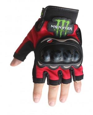 Găng tay monster cụt ngón- 02 (đỏ)