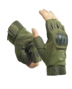 Găng tay xe máy cụt ngón OAKLEY- xanh lá