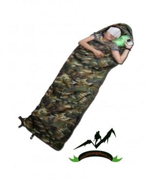 Túi ngủ bông lính (có mũ)